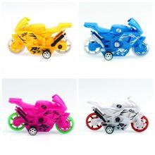 100Pcs/lot Pull Back Motorcycle Vehicle Toys Gifts Children Kids Motor Bike Model Wholesale