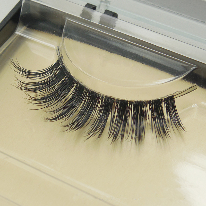 FreeShipping 1pair 100% handmade high quality mink hair false eyelash Natural Winged full strip mink lashes fake eyelash Makeup