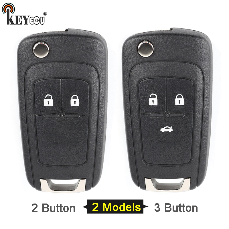 KEYECU for Chevrolet Cruze Aveo Orlando Replacement Flip Folding Remote Car Key Shell Case Fob 2/ 3Button HU100 Blade цена