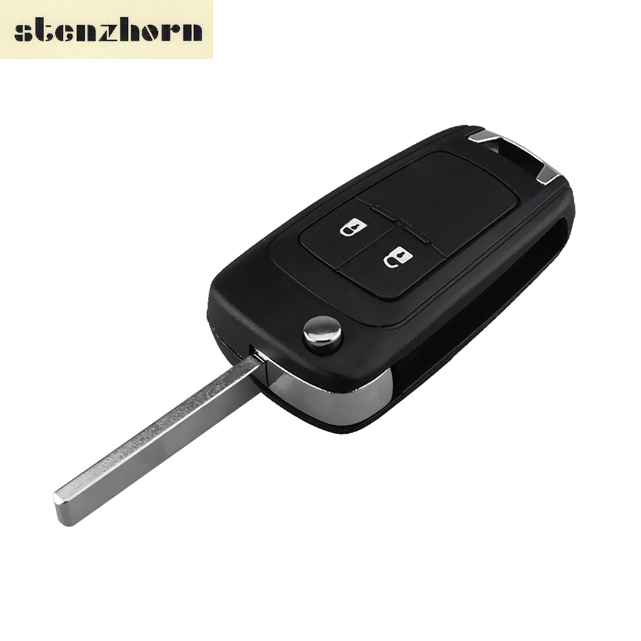 Stenzhorn Flip Folding Remote Key Case Shell Fob Cover For VAUXHALL OPEL Zafira B Meriva Astra 2009 Onwards 2 Button HU100 Blade autewode remote key case shell for vauxhall opel insignia astra j zafira c mokka car control fob cover housing hu100 blade
