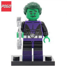 POGO Beast Boy DC Legion of Super Heroes Mini Dolls With Lepin Building Block Sets Single