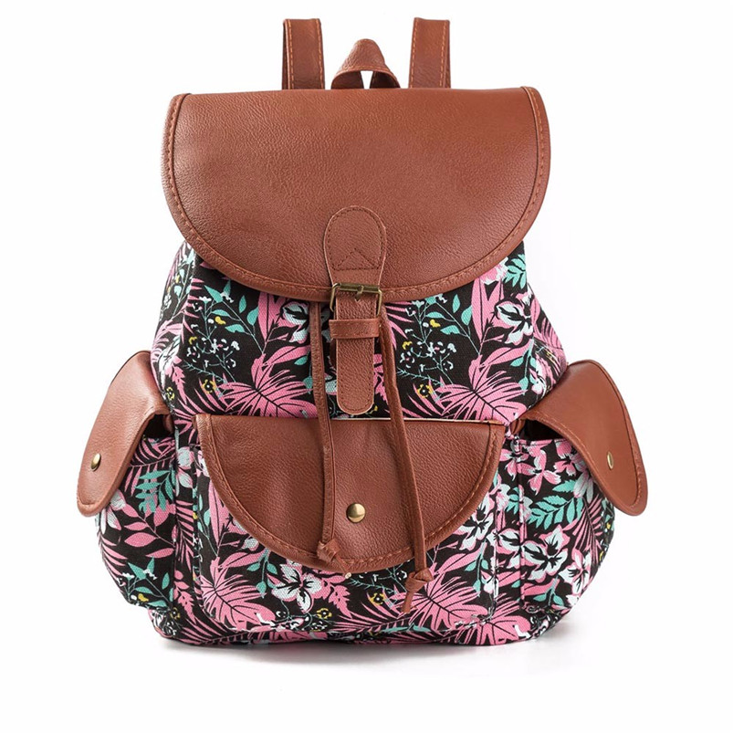 2017 Unique Design Female Fresh Bags Women National Wind Printing Drawstring Backpack Shopping Travel Bag Ladies Rucksacks A7