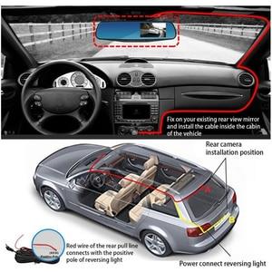 Image 5 - 1080P 4.3 אינץ דאש מצלמת רכב מצלמה מראה 170 HD נהיגה מקליט מצלמה ראיית לילה אוטומטי Dvr CAMEM רכב מצלמה מקליט