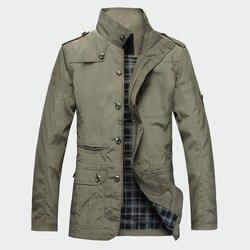 Модные тонкие Для мужчин Куртки Лидер продаж повседневная одежда корейский комфорт ветровка осеннее пальто необходимо Весна Для мужчин