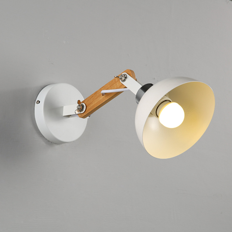 Modern Wall Lamps Sconces Living Room E27 Wooden Iron Restaurant Bedroom Decorative Wall Lights Lamparas Home Lighting Fixture sconces chinese style wall lamps reading lights fixture decorative night light for pathway staircase bedroom lamp fixtures