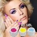 BD 3pcs/lot 5g 3D 4D Carving Nail Gel Builder Nail Art UV Gel Nail Polish 14Color Emboss Soak Off Gel Lace Sculpture Nail Art