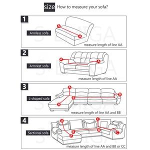 Image 2 - Nuovo stile divano copre per soggiorno materiale elastico di stirata fodere divano copertura della sedia forma di L divano 1/2/3/4 sedile