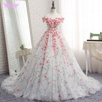 f570088c6 YQLNNE 2018 Vestido De fiesta De quinceañera Vestidos De fiesta De hombro  Vestido De encaje dulce 16 Vestidos De 15 anos