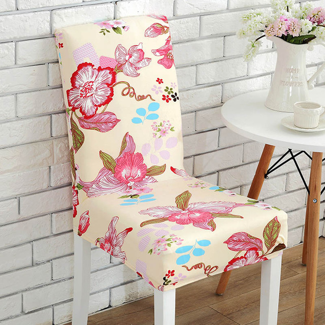 Removable Elastic Stretch Slipcovers Dining Room Chair Seat Covers ...