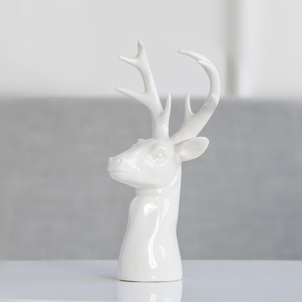 White Ceramic Deer Head Sculpture Creative Modern Home Decorations In Statues Sculptures From Garden On Aliexpress Alibaba Group
