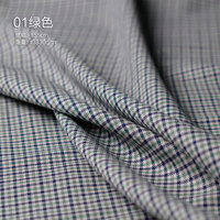 High quality wool worsted plaid spring summer suit jacket fabric