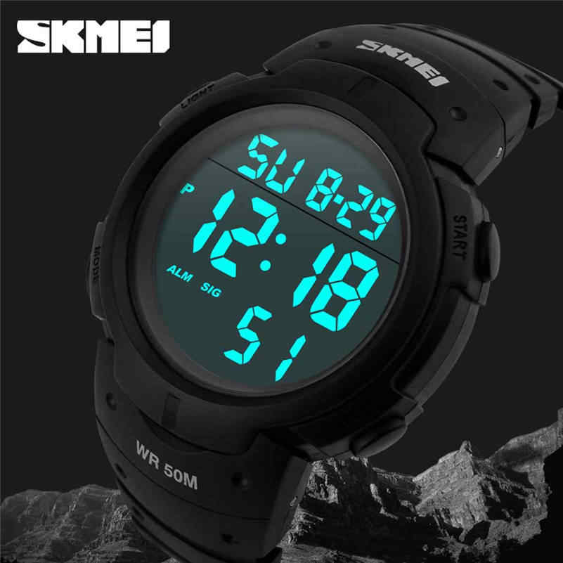 Brand Men Sports Watches Fashion Chronos Countdown Waterproof LED Digital Watch Man Military Clock Relogio Masculino 661D5