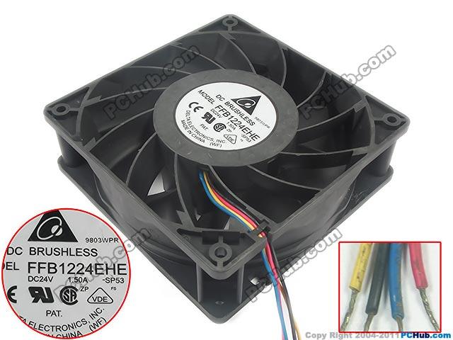 Delta FFB1224EHE SP53 DC 24V 1.5A Server Square Cooling Fan delta afb0948l dc 48v 0 08a 9cm 9225 2wire server square axial cooling fan