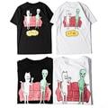 2017 ripndip t shirt homens wome 11 de alta qualidade dos desenhos animados cat e ET Impresso Camisetas Hip Hop Camiseta Verão Tops tees S-XL XT1062
