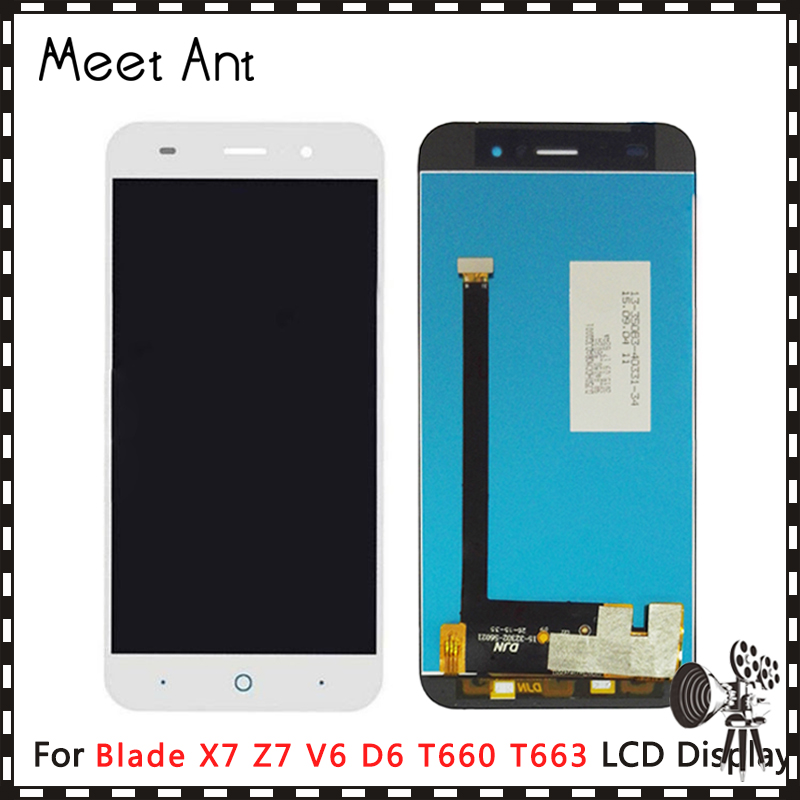 High Quality 5.0'' For ZTE Blade X7 Z7 V6 D6 T660 T663 LCD Display Screen With Touch Screen Digitizer Assembly image