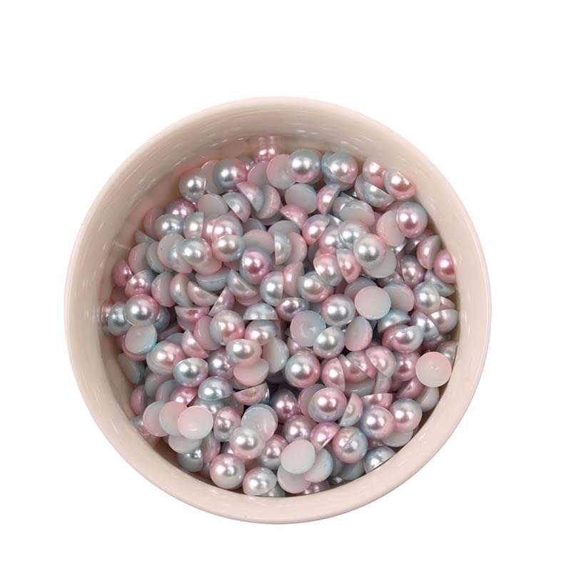 80pcs 5mm Half Round Abs Imitation Pearl Beads Sbook Craft Diy Jewelry Sewing Accessory Table Confetti Wedding Decoration In Party Decorations From