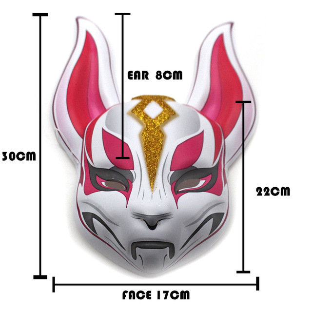 Fort night BATTLE ROYALE Drift Fox Mask Cosplay Costume Toy Figure for Halloween 3