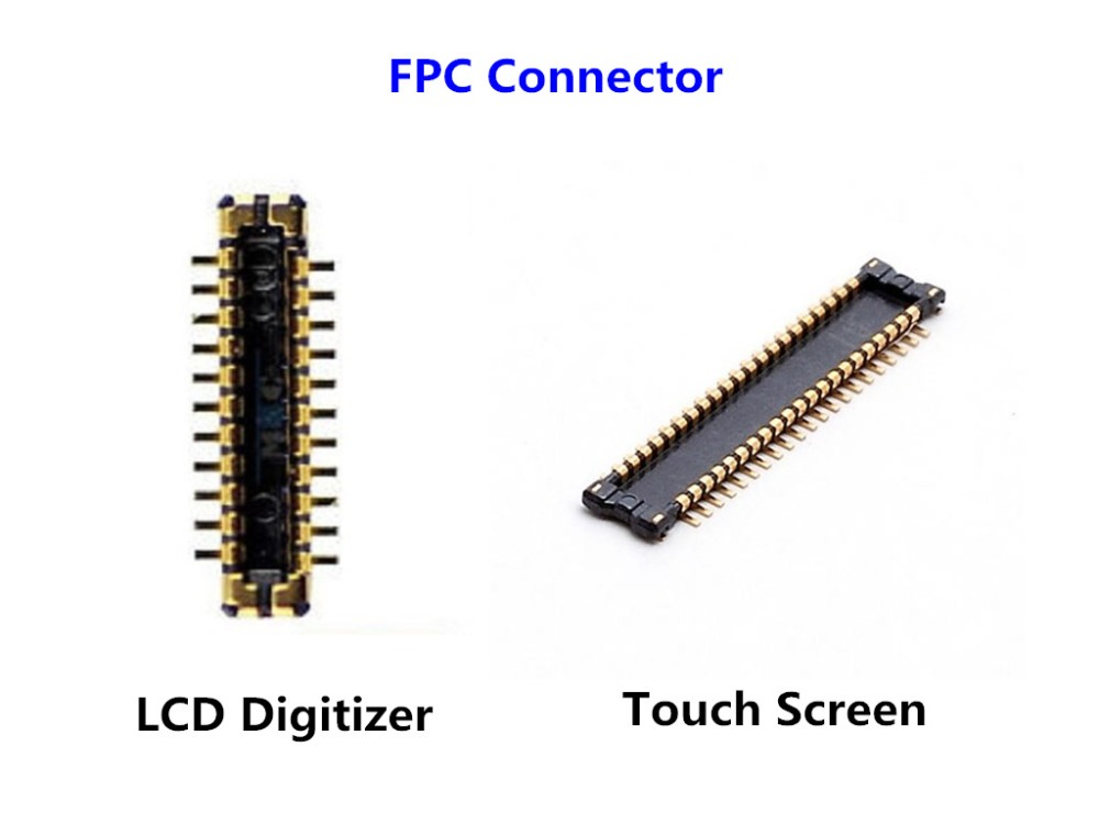 10Pcs/lot Original NEW LCD Digitizer/Touch Screen <font><b>Display</b></font> FPC <font><b>Connector</b></font> for iPhone 5S on Motherboard Logic Board image