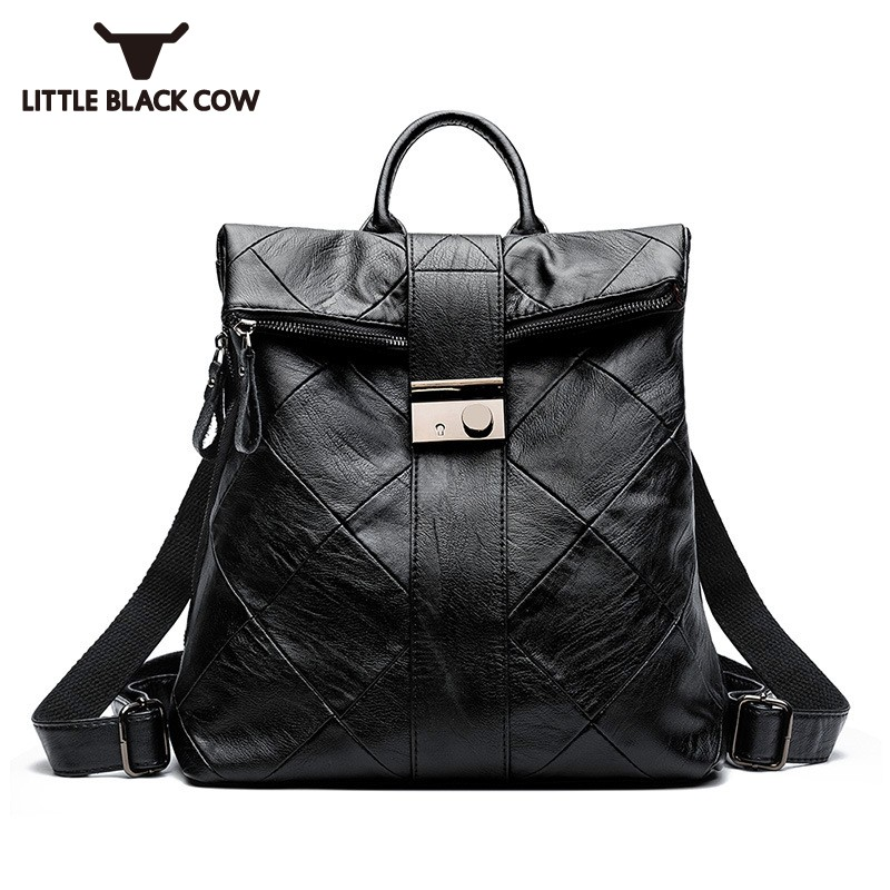 Nouveau mode femmes classique sac en cuir Softshell école sac à dos fermeture éclair ordinateur portable emballage sac à dos voyage en cuir sacs à dos