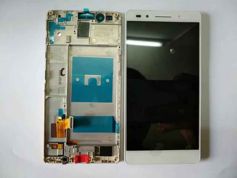 Prix pour Écran lcd + écran tactile + cadre 100% écran d'origine digitizer assemblée remplacement pour huawei honor 7 cellulaire téléphone + outils