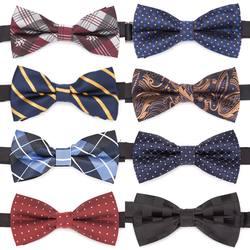 Мужской галстук-бабочка жаккардовые галстук мальчик для мужчин модные бизнес Свадебные в полоску галстук бабочка мужской Платье рубашка