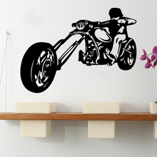 Cool Harley Motorcycle Vinyl Wall Stickers Decor For Bedroom Kids Room Decoration Removable Art Decal