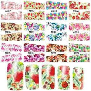 Image 5 - 48Pcs Water Transferเล็บสติกเกอร์ดอกไม้ที่มีสีสันเคล็ดลับแสตมป์Decalsเล็บความงามA049 096SET
