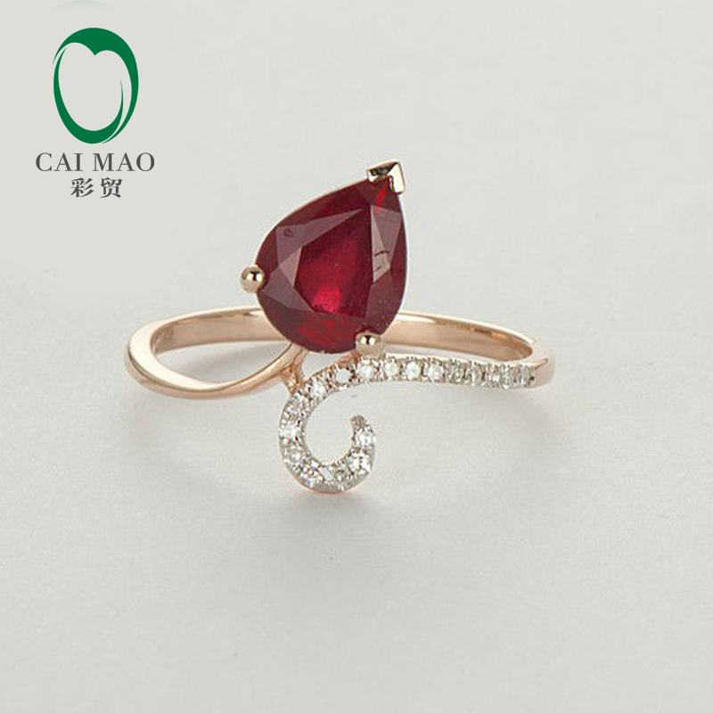 Caimao Blood Red Ruby Natural Diamond Ring 14K Rose Gold Fine Jewelry Free Shipping кроватка feretti princier bianco