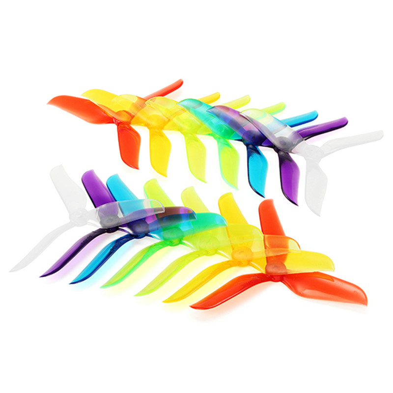 Free Shipping 10 Pairs 20x Racerstar V2 5048 5x4.8x3 3 Blade Racing Propeller Blade 5.0mm Mounting Hole For FPV Racer RC Drones(China)