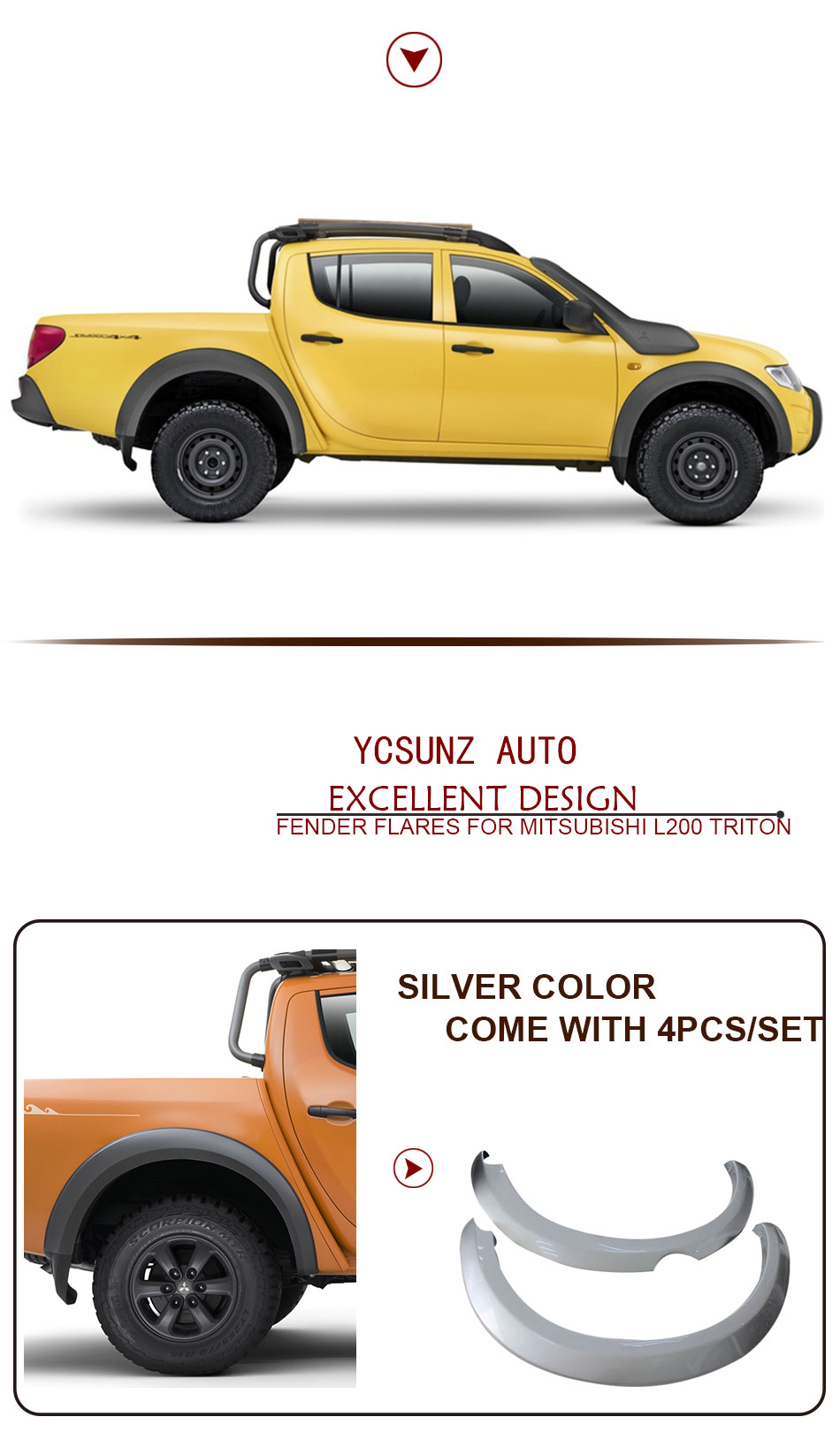 2006 2014 For Mitsubishi Triton Fender Flare Abs Flares 2001 Toyota Tacoma All Have 30 Discount