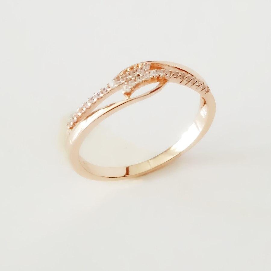 Новое модное кольцо 585 золотого цвета, Женские Ювелирные изделия из кубического циркония, свадебные украшения, трендовые винтажные женские свадебные кольца розового золота|wedding rings|women wedding ringfashion rings | АлиЭкспресс
