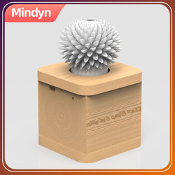 Mindyn Handmade Flower shadow Infrared remote control LED flashing flower rotate speed adjustment Decoration Gifts