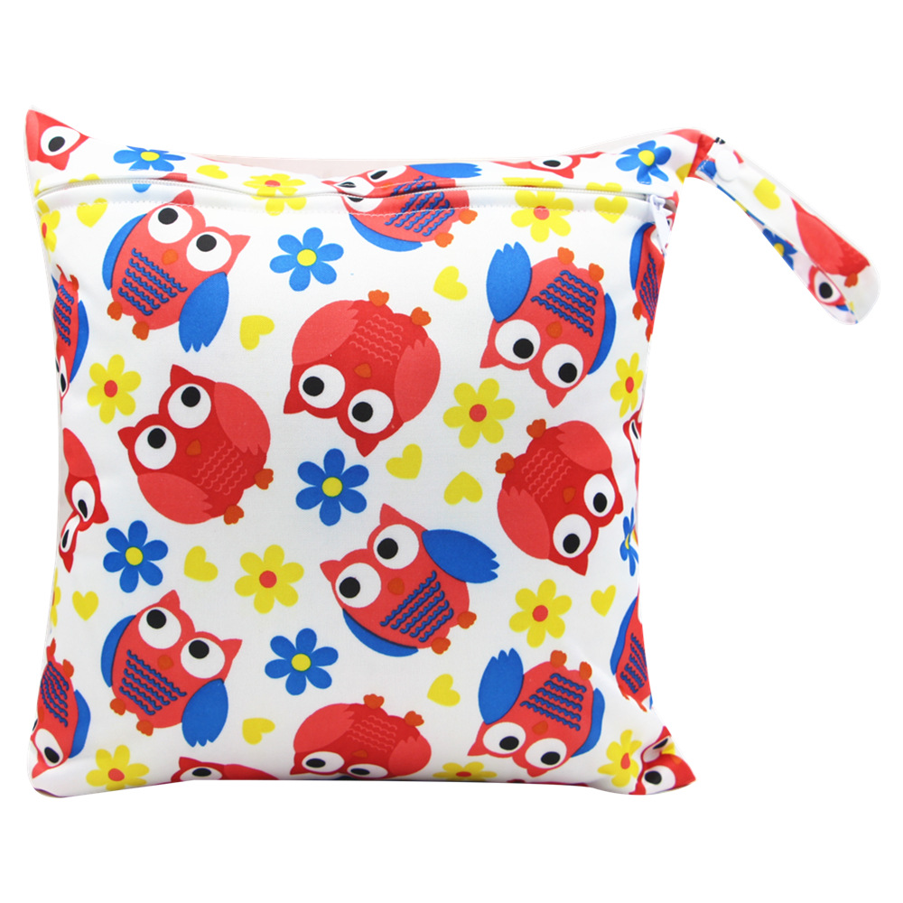 HTB110XvadzvK1RkSnfoq6zMwVXaR Cute Cartoon Striped Baby Diaper Bag Waterproof Travel Maternity Small Wet Bags for Mommy Storage Stroller Accessories 28*30cm