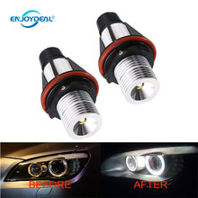 2 pcs Ultra Brilhante Foglight Angel Eye Halo Anel Marcador Para BMW LED 12 V Luz Do Carro Para BMW E39 E53 E60 E61 E63(China)