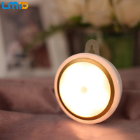 Lmid USB Rechargeable PIR Motion Sensor Lights Wireless LED Wall Lithium Cell Night Light Auto On