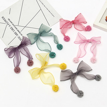 Korean Simple Exquisite Juan Yarn Handmade Hairpin Hair Clip for Girl Children Bowknot Accessories