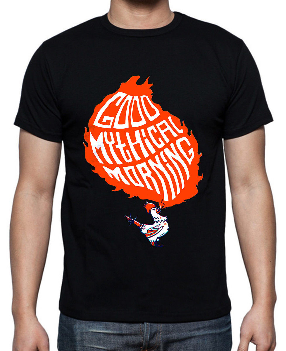 Good Mythical Morning short sleeve Black T-shirt size M to 2XL Round Collar Short Sleeve Tee Shirts top tee Short Sleeve