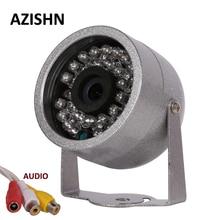 Azishn cmos 700tvl مع مراقبة الصوت 30 led اللون للرؤية الليلية الأمن في معدن شل للماء كاميرا cctv
