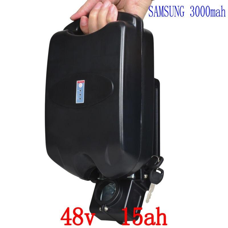 48 v batterie 48 v 15ah batterie au lithium 48 v 15ah vélo électrique utilisation de la batterie samsung cellulaire avec 54.6 v 2A chargeur pour 500 w 750 w moteur