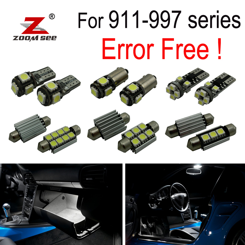 12pc X Canbus Error Free LED Lamp Interior Dome Bulb Light Kit For Porsche For 911 997 Series (2005-2011)