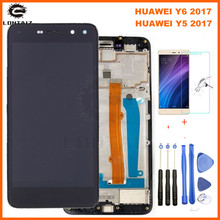 NEW For Huawei Nova Young 4G LTE / Y6 2017 / Y5 2017 MYA-L11 MYA-L41 LCD DIsplay + Touch Screen Digitizer Assembly With Frame все цены