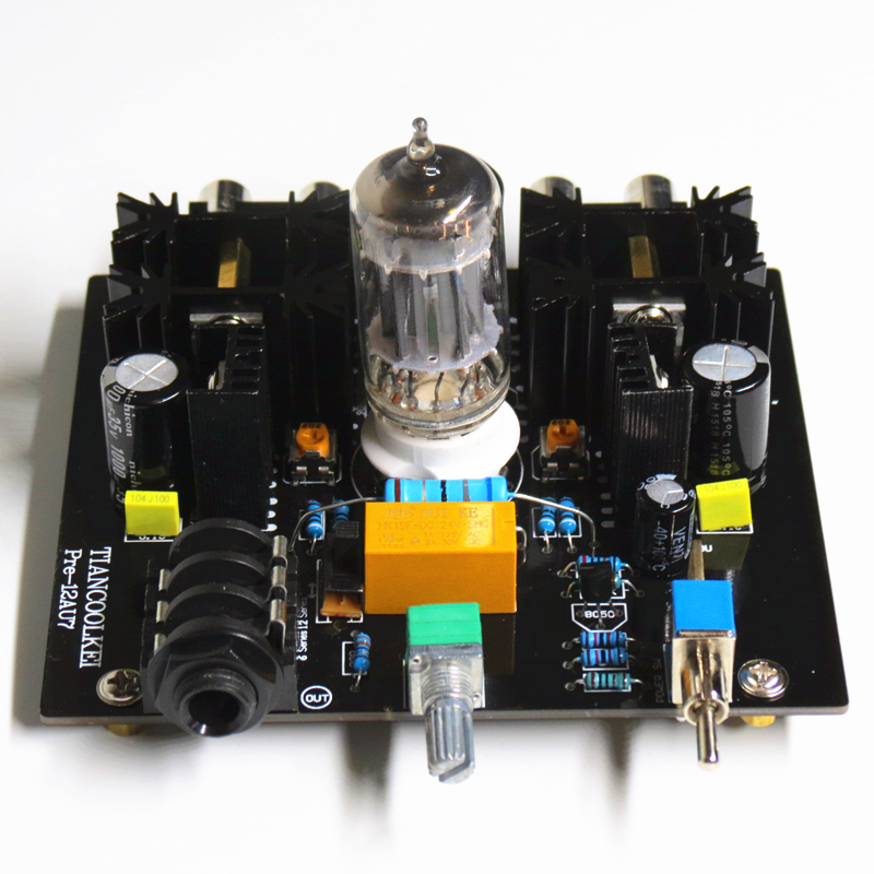 Tiancoolkei Audio tube préamplificateur Conseil Pré-Amp Classe A tube préampli 12AU7 Tube Amplificateur