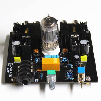 Tiancoolkei Audio tube preamplifier Board Pre-Amp Class A tube preamp 12AU7 Tube Amplifier diy kit ac 12v 6j1 tube fever pre amplifier preamp amp pre amplifier board headphone buffer module stereo potentiometer valve