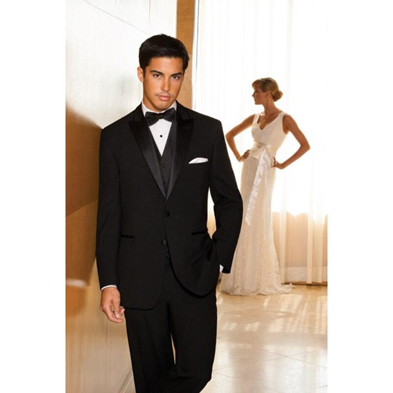Pic D honneur Cravate veste Dîner De As custom Smoking Costume Pantalon Marié  Revers Color Satin Hommes Mariage Costumes Garçons ... c089915bdd1
