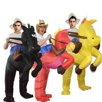 Adults Inflatable Horse Rider Outfit Festival Fancy Dress Costume Suit