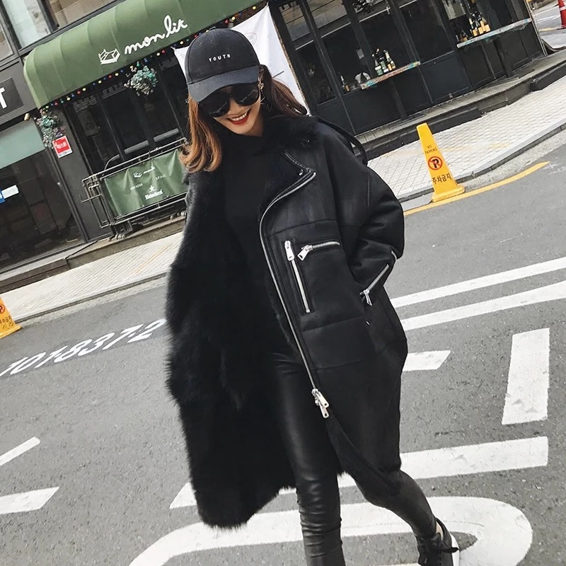 2017 Fashion Genuine Sheep Fur Coat Women Tuscany Wool Fur Coat Winter Thick Natural Sheepskin Jacket Real Sheep leather Jacket ...