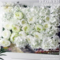 DIY artificial peony flower heads silk decorative flower DIY Road led wedding flower Bouquet hotel background wall decor 25pcs