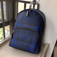 2018 New Summer style Genuine Leather Backpack men Fashion Striped designed for Unisex bag famous brand cowhide Backpack