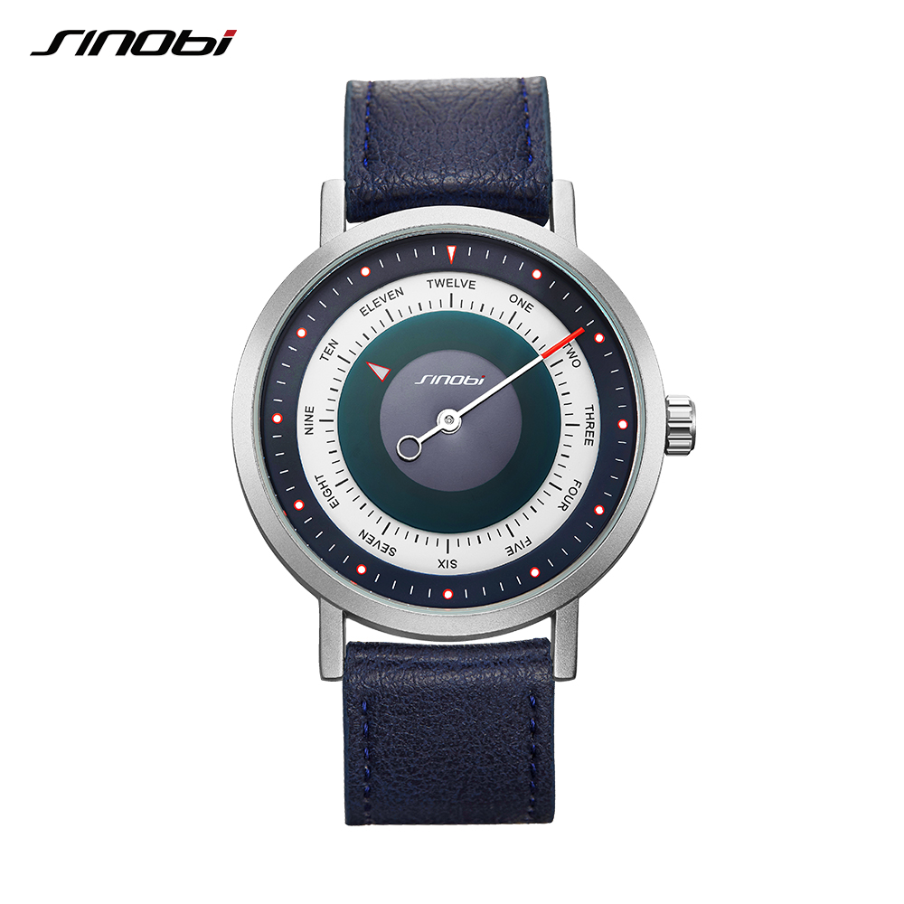 Image 3 - SINOBI New Creative Watch Mens Sports Watches Mans Quartz Wrist Watch Male Military Clock Casual Mysterious Sky Style RelogioQuartz Watches   -