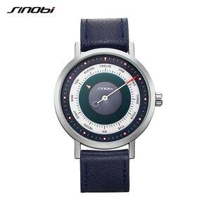 Image 3 - SINOBI reloj deportivo para hombre, cronógrafo de pulsera de cuarzo, militar, informal, de cielo misterioso